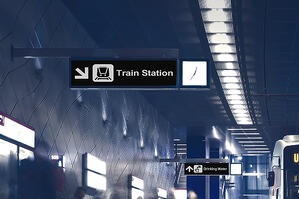 28 inch strenched type EPD in public transportation _simulation