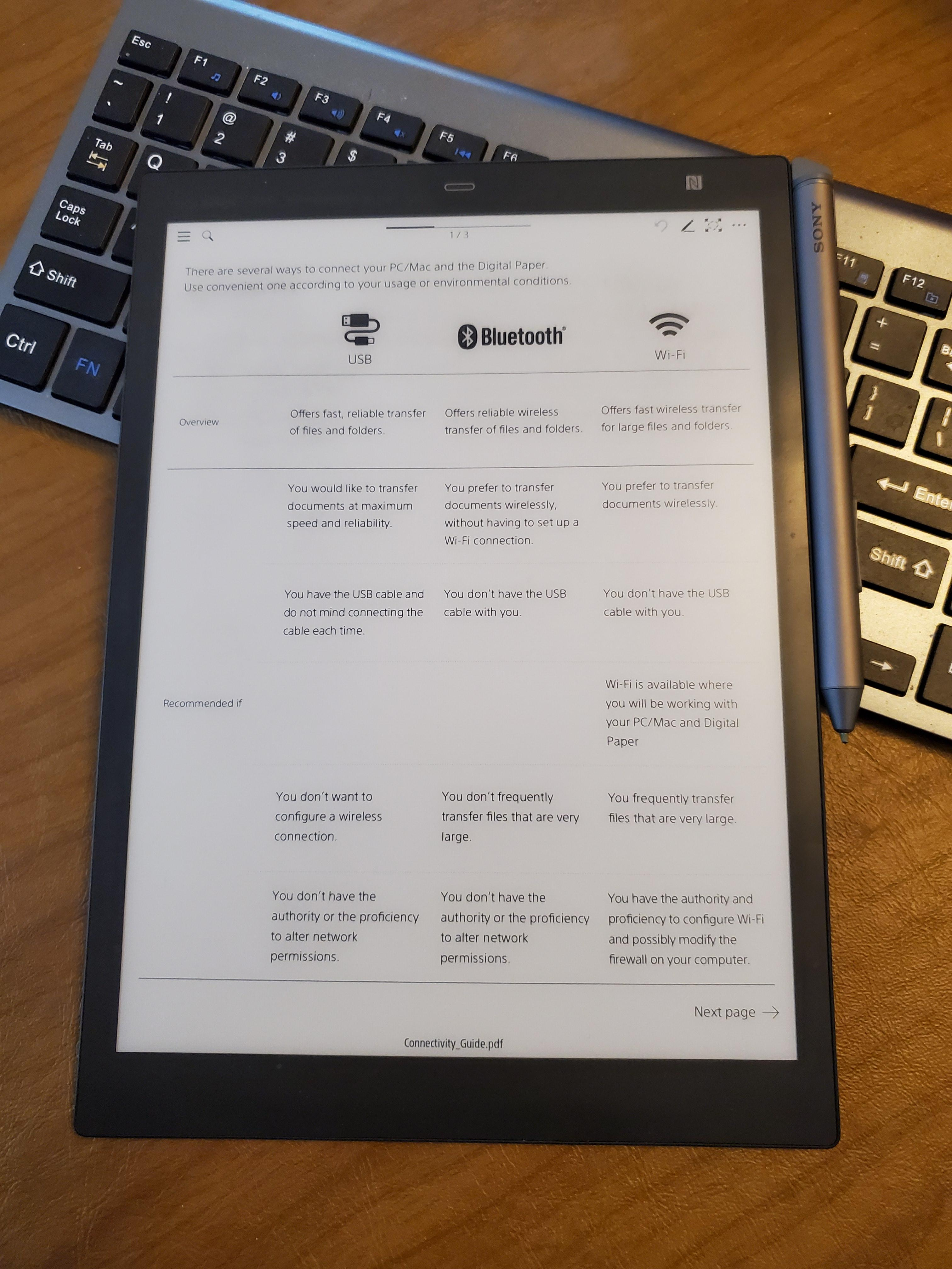 "Sony 10.3"" Digital Paper eNote"